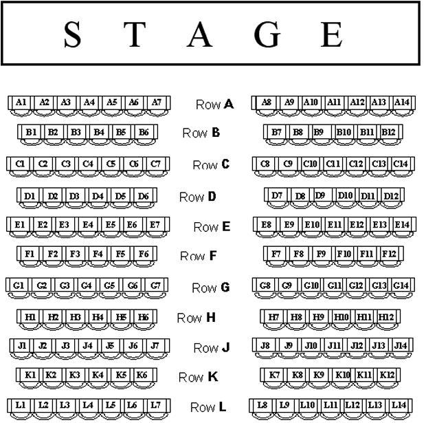 St Austell Arts Theatre Seating Plan