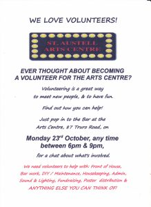 Volunteer evening posterjpg
