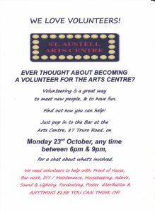 Volunteer evening posterjpg