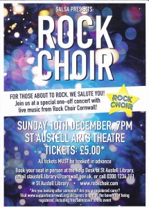 Rock Choir - Sun 10th December - 7.00pm